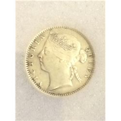 Straits Settlements 10 Cents 1901; NNC certified XF-45.