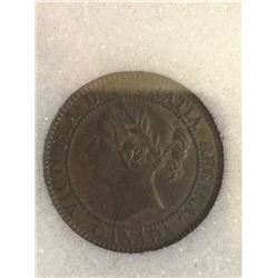 1 cent 1859; NNC certified AU-50. Not noted Low 9.