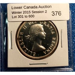 Canada silver 50 cents 1956 proof like 65.