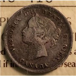 5 cents 1898; ICCS certified F-12.