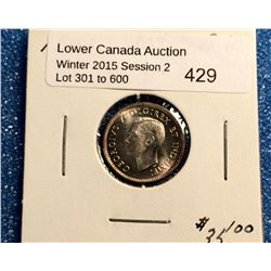 10 cents 1943 in Bright Uncirculated MS-63.