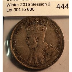 Newfoundland 50 cents 1911 in VF-20.