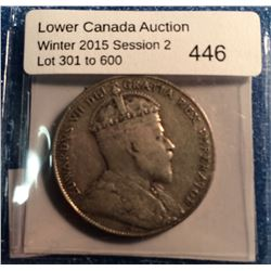 Newfoundland 50 cents 1909 in Fine 15.