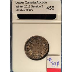 25 cents 1918; ANACS certified AU-50.