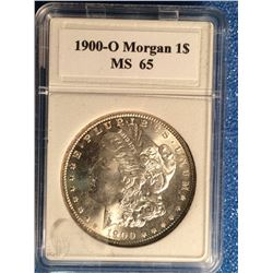 USA 1 Dollar 1900-O in Coinworld Holder marked MS-65.