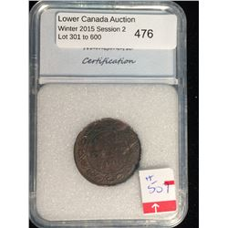 1 cent 1896; NNC certified MS-62 Brown.