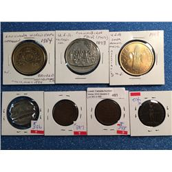 Assorted medal and hard time token lot