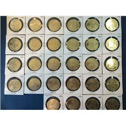 Assorted token, olympique and pope, lot of 33 pieces