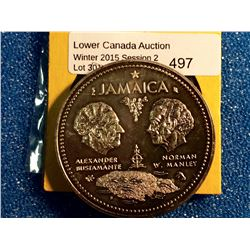 Jamaica 10 dollars 1972, Tenth Anniversary of Independence.1.4538 oz ASW of pure silver.