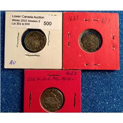 Poland 1/2 Grossus 1550, 3 Grossus 1623 and 3 Solidus 1623. Lot of 3 coins.