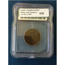 1 cent 1876H; ICG MS-65 Red & Brown.