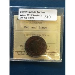 1 cent 1900; ICCS MS-63 Red & Brown.
