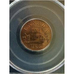 1 cent 1928; PCGS MS-65 Red & Brown.