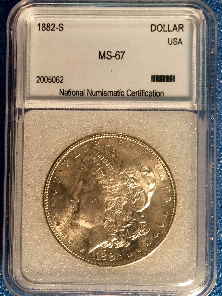 Usa 1 Dollar 1882 S Nnc Certified Ms 67 Lower Canada Auction