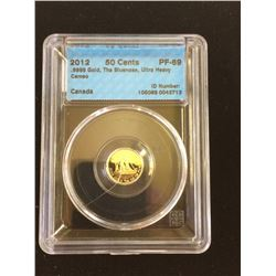 50 cents 2012; CCCS PF-69 Gold The Bluenose 1/25th oz Gold Series.