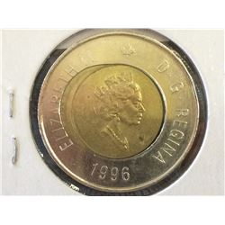 2 dollars 1996 Core Off Centre.