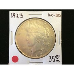 USA dollar Peace 1923 AU-50.