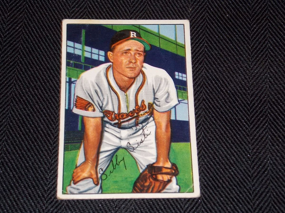 Image 1 1952 Bowman Sibby Sisti Boston Braves