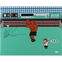 "Mike Tyson Signed ""Punch-Out"" 16x20 Photo (JSA COA) (Imperfect)"