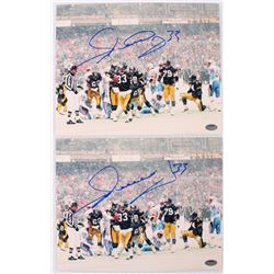 Lot of (2) Merril Hoge Signed Steelers 8x10 Photos (Schwartz COA)