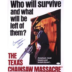 "Gunnar Hansen Signed ""The Texas Chainsaw Massacre"" 16x20 Photo Inscribed ""Leatherface"" (JSA COA)"