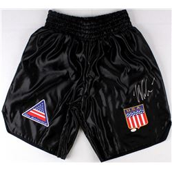 "Mike Tyson Signed Custom ""USA"" Boxing Shorts (JSA COA)"