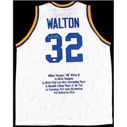 Bill Walton Signed UCLA Career Highlight Stat Jersey (JSA COA)