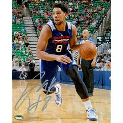 Jahlil Okafor Signed 76ers 8x10 Photo (Schwartz COA)