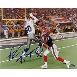 Alvin Harper Signed Cowboys 8x10 Photo (Schwartz COA)
