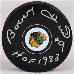 "Bobby Hull Signed Blackhawks Logo Hockey Puck Inscribed ""HOF 1983"" (Schwartz COA)"
