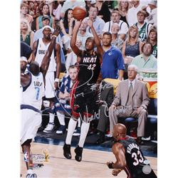 """James Posey Signed Heat 16x20 Photo Inscribed """"World Champs!"""" (Hollywood Collectibles COA)"""