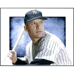 Mickey Mantle Yankees Limited Edition 11x14 Signed Art Print by Jeff Lang (Artist Proof #2/3)