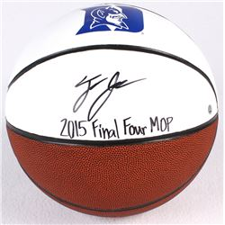 "Tyus Jones Signed Duke Logo Basketball Inscribed ""2015 Final Four MOP"" (Steiner COA)"
