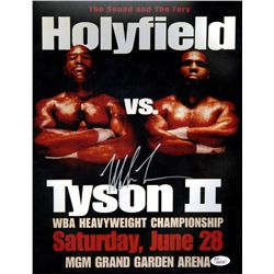 Mike Tyson Signed 11x14 Photo vs Evander Holyfield (JSA COA)