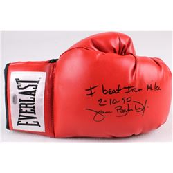"Buster Douglas Signed Everlast Boxing Glove Inscribed ""I Beat Iron Mike 2/10/90"" (Schwartz COA)"