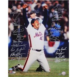 1986 Mets 16x20 Photo Team-Signed by (24) with Darryl Strawberry, Jesse Orosco, Lenny Dykstra, Howar