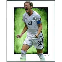 Abby Wambach US Women's National Soccer Team Limited Edition 11x14 Signed Art Print by Jeff Lang (Ar