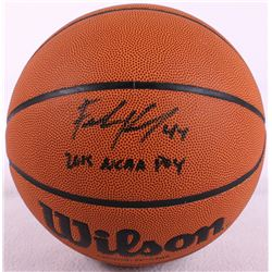 "Frank Kaminsky Signed NCAA Basketball Inscribed ""2015 NCAA POY"" (Schwartz COA)"