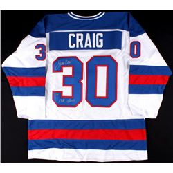 "Jim Craig Signed Team USA ""Miracle on Ice"" Jersey Inscribed ""1980 Gold"" (Schwartz COA)"