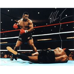 Mike Tyson Signed 16x20 Photo vs Trevor Berbick (JSA COA)