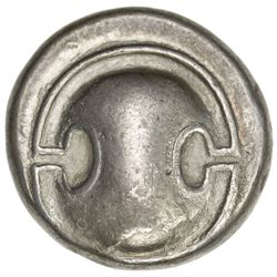THEBES: ca. 371-338 BC, AR stater (12.14g), S-2398/2400, Boeotian shield /amphora