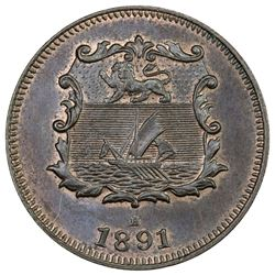 BRITISH NORTH BORNEO: AE 1/2 cent, 1891-H