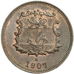BRITISH NORTH BORNEO: AE 1/2 cent, 1907-H