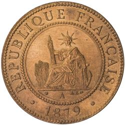 FRENCH COCHINCHINA: AE cent, 1879-A