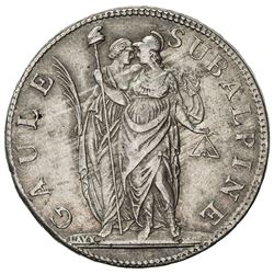 PIEDMONT REPUBLIC: AR 5 francs, L'AN 10 (1801)