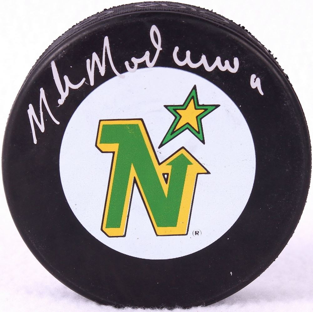Image 1   Mike Modano Signed North Stars Logo Hockey Puck (JSA COA) ... 68aa4281322