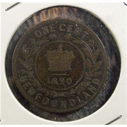 1890 Newfoundland One Cent