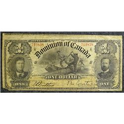1898 - Dominion of Canada - $1 dollar bank note - DC-13a