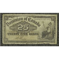1900 Dominion of Canada 25 Cent 'Shinplaster'