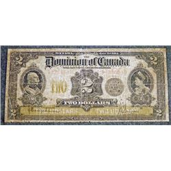 1914 DC-22e - Dominion of Canada $2 Banknote Serial S-236640